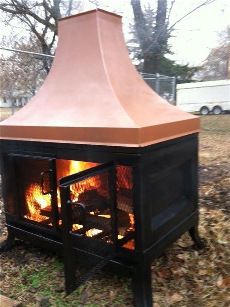 handmade custom outdoor fireplace  kutz fine metalwork