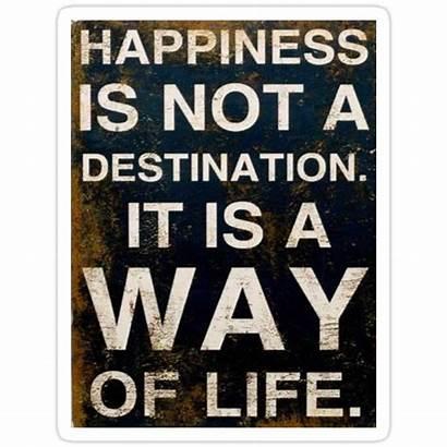 Happiness Destination Way Desiree Sticker Redbubble