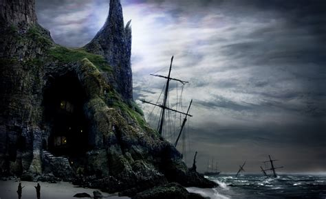 sailing, Ships, Fantasy, Shipwreck, Ruins, Wreck, Ocean ...