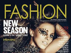 free fashion magazine cover psd template free psd ui With magazine cover page template psd