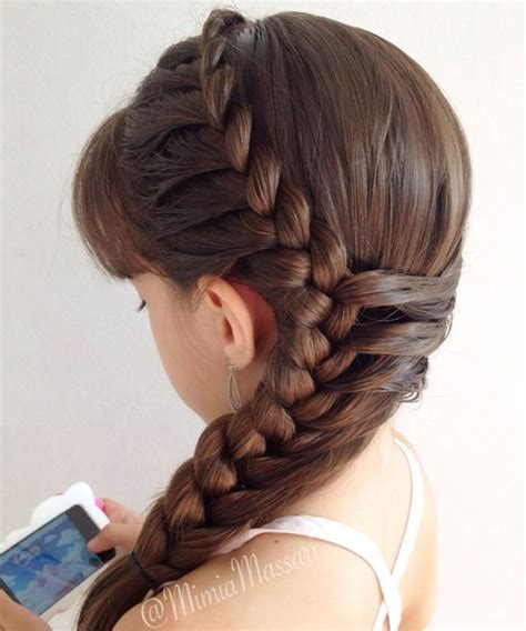 Side Braided Hairstyles 2016 for Little Girls Full Dose