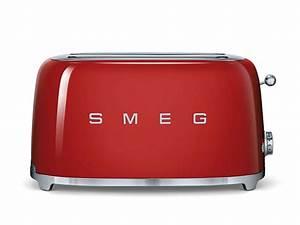 Smeg Küchenmaschine Zubehör : smeg tsf02rdeu 4 scheiben toaster rot ~ Frokenaadalensverden.com Haus und Dekorationen