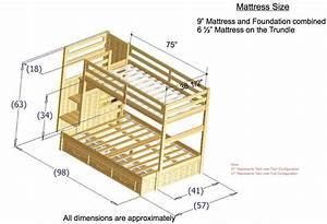 Twin Over Full Bunk Bed Plans Bunk Beds Twin Over Full