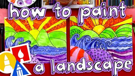 How To Paint A Beautiful Landscape (for Kids)  Youtube. Grey Turquoise Living Room. Best Living Room Rugs. Leather Couch Living Room Ideas. Living Room Couches. Draperies For Living Room. Country Cottage Living Room Furniture. Farmhouse Glam Living Room. Cheap End Tables For Living Room