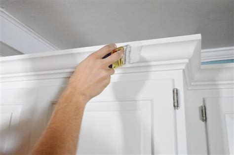 add crown molding   top   cabinets