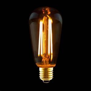 Umrechnung Led Glühbirne : led rustika filament edison gl hbirne 4w e27 gold extra ~ A.2002-acura-tl-radio.info Haus und Dekorationen