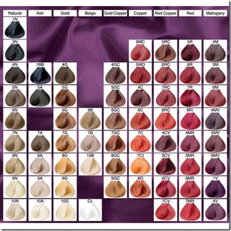 Hair Dye Colours Chart by Lena Hoschek How To Use Hair Color Chart Shades Of