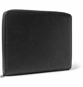 mulberry leather document holder in black for men lyst With black leather document holder