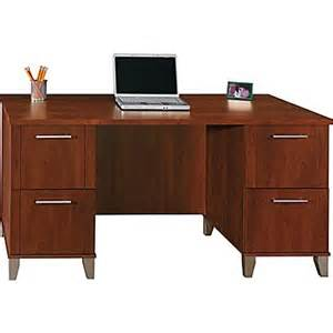 bush furniture somerset office desk hansen cherry