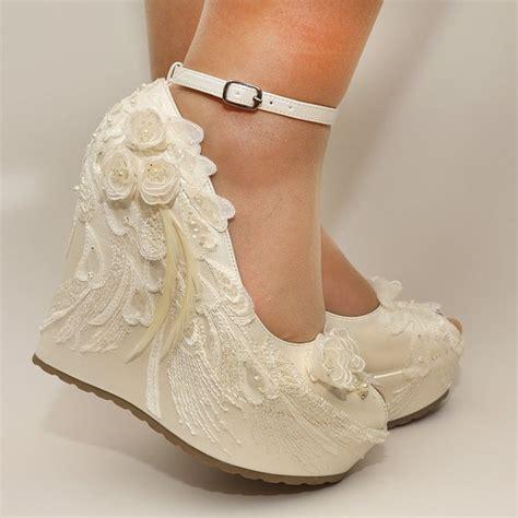wedge shoes for wedding ivory wedges wedding wedge wedges bridal wedgesbridal 1236