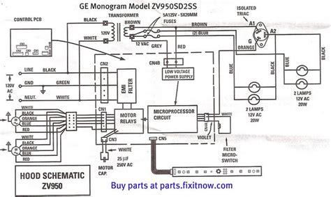 ge monogram range vent hood model zvsdss schematic  bonus diagnostic chart fixitnowcom