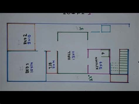 bhk   east face house plan map naksha youtube house map bhk house plan