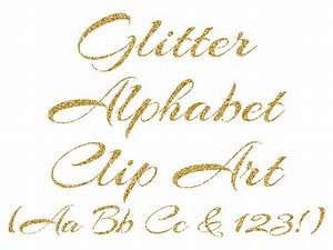 gold alphabet clipart gold glitter letters numbers With gold glitter iron on letters cursive
