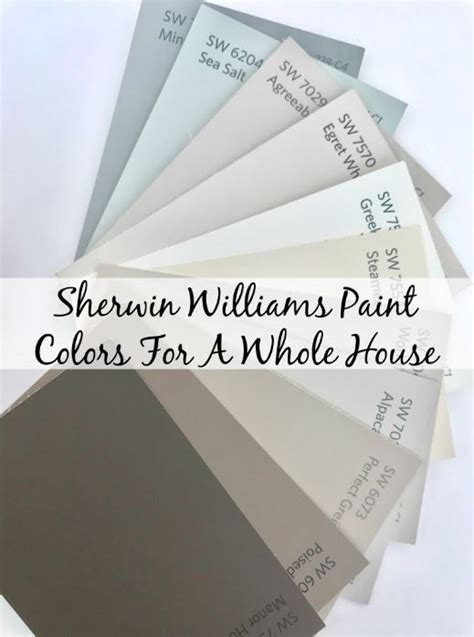 sherwin williams paint colors for our new house finding