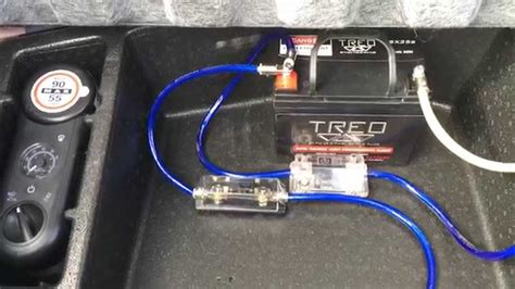 Installation Second Battery For Car Audio Custom