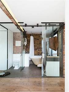 Bad Industrial Style : wandgestaltung im bad 25 ideen mit backstein ~ Sanjose-hotels-ca.com Haus und Dekorationen