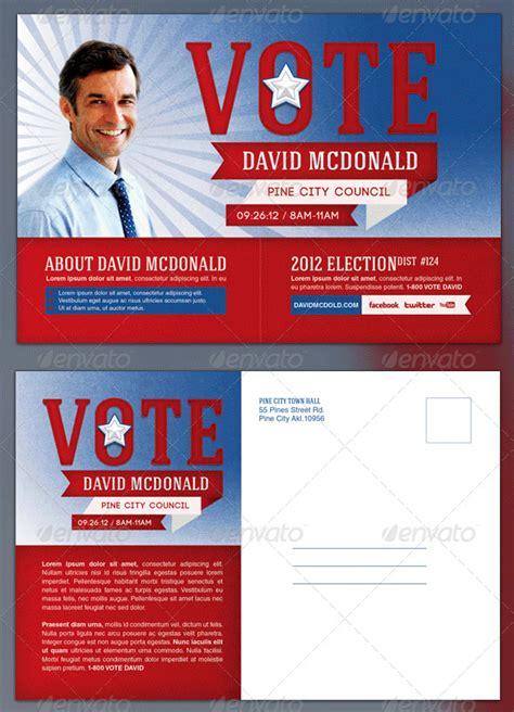 political postcard templates  sample