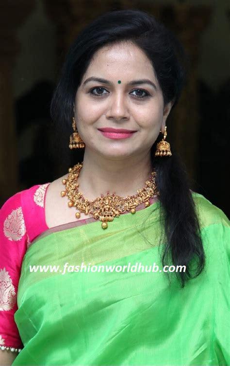 black wedding rings for singer sunitha in temple jewellery fashionworldhub