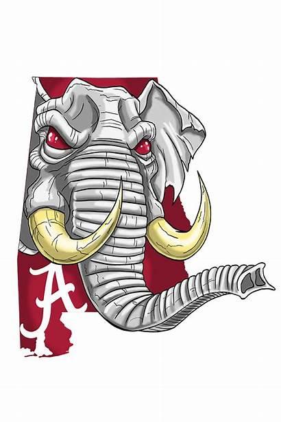 Alabama Tide Crimson Football Cave Roll College