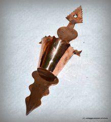 antique french copper match holder vesta hand  vintage copper french antiques copper rose