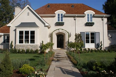charming exterior paint colors with brown roof ideas for house remodeling decohoms