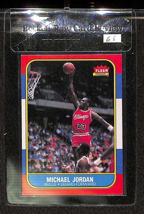Michael jordan 1986 fleer rookie bulls #57 bccg 9 centered. Lot Detail - 1986-87 Fleer Michael Jordan Rookie Card BVG 6.5