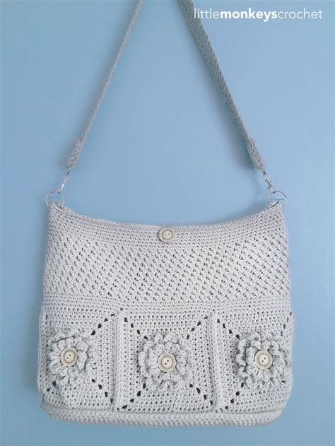 wildflower shoulder crochet bag allfreecrochetcom