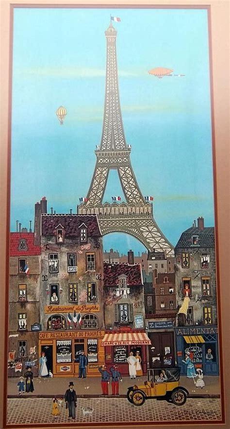eiffel tower  michael delacroix eiffel tower painting