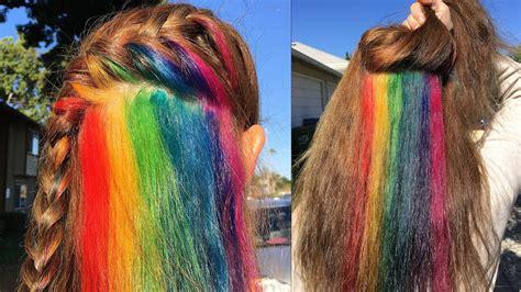 Secretly Dye Your Hair Hidden Rainbow Hair Tutorial