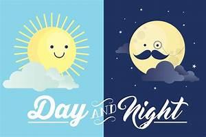 Night And Day : day and night vector illustrations creative market ~ A.2002-acura-tl-radio.info Haus und Dekorationen