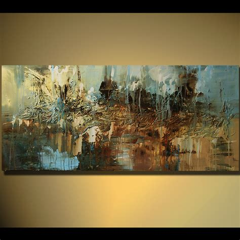 abstract painting large contemporary painting horizontal home decor 5473