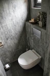Wandgestaltung Gäste Wc : beton look wc toilet in 2018 pinterest badezimmer bad und g ste wc ~ Markanthonyermac.com Haus und Dekorationen