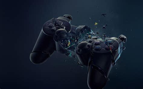 af joystick ps sony art crack illust game papersco