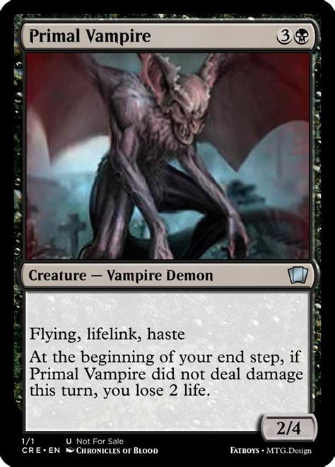 vampire primal custom card creation magic fundamentals