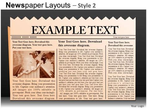 newspaper layouts style  powerpoint