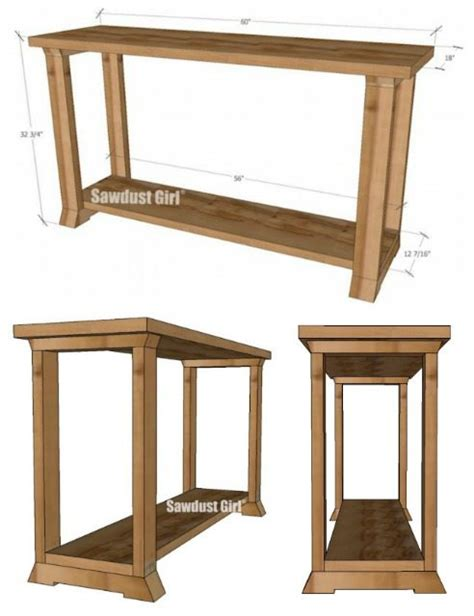 console table woodworking plans sawdust girl