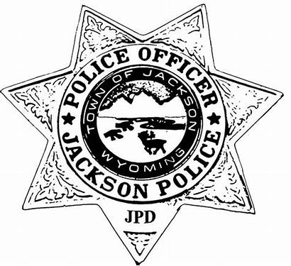 Police Coloring Badge Pages Policeman Jackson Outline