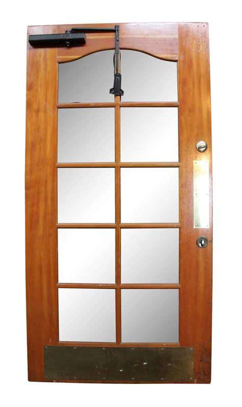 wooden door with glass panel wooden door with beveled glass panels olde things 1958