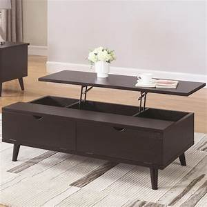 Coaster 72112 721128 mid century modern lift top coffee for Mid century lift top coffee table