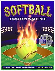 Softball tournament flyer template free fixridecom for Softball tournament flyer template