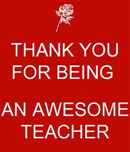 THANK YOU FOR BEING AN AWESOME TEACHER Poster | SIDAH ...