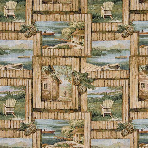 Boat Cabin Chairs by Cabin Fishing Boat Chair Acorns Themed Tapestry Upholstery