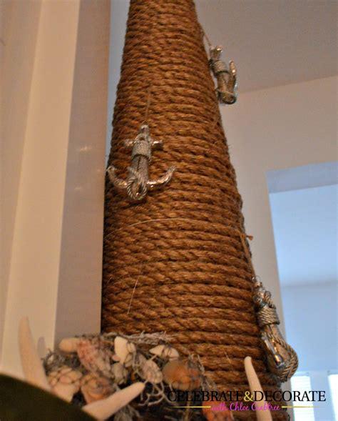rope  repurpose christmas decor celebrate decorate