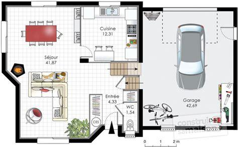 canapé une place et demi maison traditionnelle normande dé du plan de maison