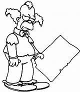 Clown Coloring Krusty Simpsons Drawing Simpson Sideshow Drawings Template Printable Getdrawings Popular Everyone sketch template