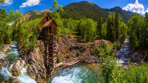crystal mill white river national forest colorado usa