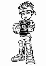 Baseball Player Coloring Catcher Pages Mlb Cartoon Clipart Cliparts Kid Cartoons Clip Drawings Super Boy Printable Colouring Heros Getcoloringpages Superhero sketch template
