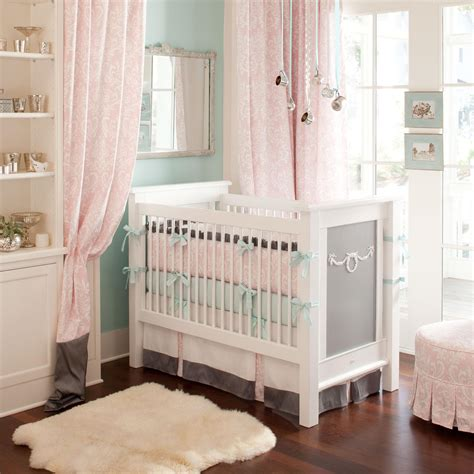 ritzy baby crib bedding baby bedding in pink and mist carousel designs