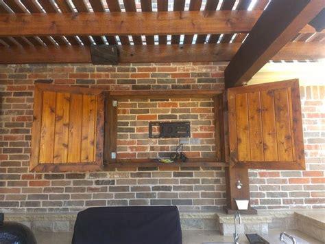outdoor tv cabinet pool outdoor kitchen
