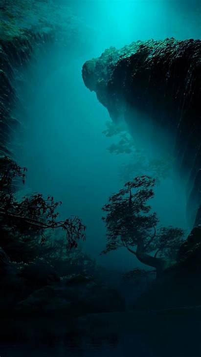 Underwater Wallpapers Cave Caves Wallpapercave Tree Dark